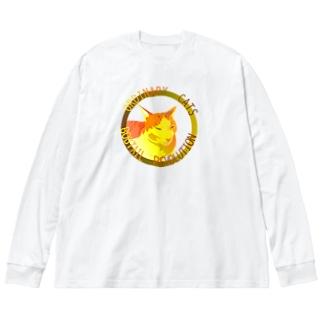 ORDINARY CATS05(秋) Big Silhouette Long Sleeve T-Shirt