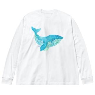くじら2 Big Silhouette Long Sleeve T-Shirt