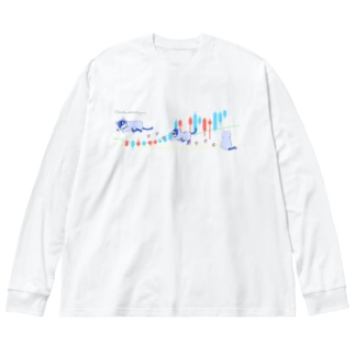 分析時計 クロニャ Big silhouette long sleeve T-shirts