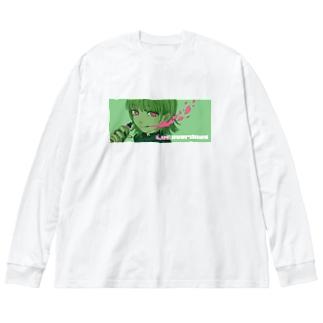 luv overdose LUDAS Big silhouette long sleeve T-shirts