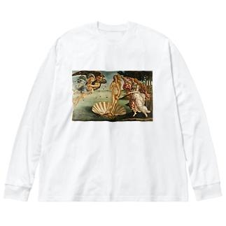 サンドロ・ボッティチェッリ【ヴィーナスの誕生】 Big silhouette long sleeve T-shirts