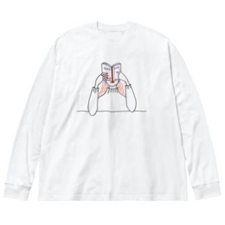 タートルネックの季節 Big silhouette long sleeve T-shirts