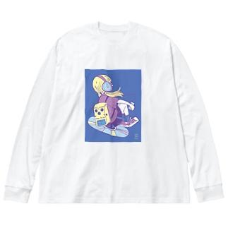 マイミュージック1 Big silhouette long sleeve T-shirts