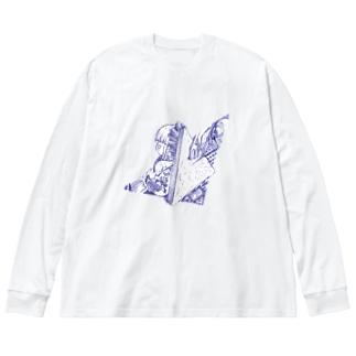breakfast Big silhouette long sleeve T-shirts