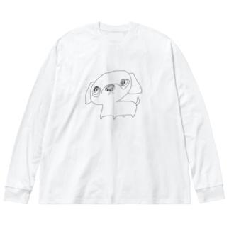 ペキちゃん Big silhouette long sleeve T-shirts