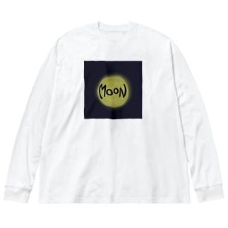 Moon Big silhouette long sleeve T-shirts