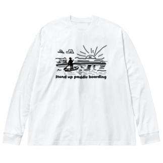 パドルボード Big silhouette long sleeve T-shirts