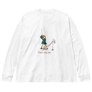 東京否定 Big silhouette long sleeve T-shirts