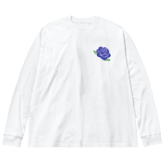 Lafs23 公式グッズ「バラ」「薔薇」 Big silhouette long sleeve T-shirts