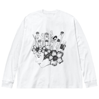 行方不知の子どもたち Big silhouette long sleeve T-shirts