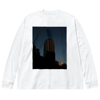 陽のあたるマンション Big silhouette long sleeve T-shirts