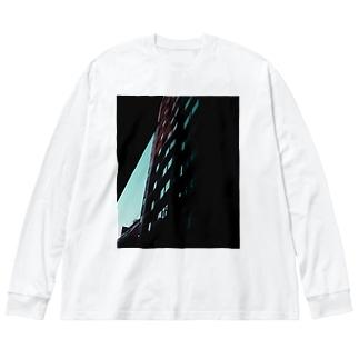 渋谷 Big silhouette long sleeve T-shirts