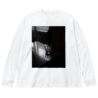 お茶 Big silhouette long sleeve T-shirts