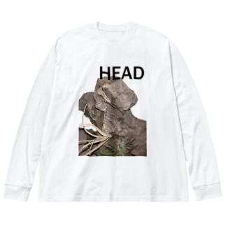 HEAD <FONT COLOR : BLACK> Big silhouette long sleeve T-shirts