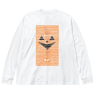 ジャックオーランタン氏 Big silhouette long sleeve T-shirts