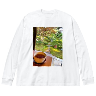 休憩タイム Big silhouette long sleeve T-shirts