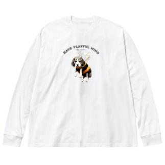 Bee・gle Big silhouette long sleeve T-shirts