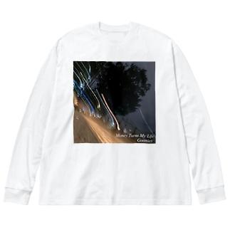 Money Turns  My Life Big silhouette long sleeve T-shirts