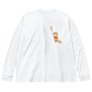 ニシキアナゴなハナちゃん Big silhouette long sleeve T-shirts