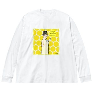 「エル・ロロ」ドリンクガール Big silhouette long sleeve T-shirts