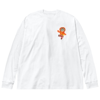 ウインナーシマちゃんミニ Big silhouette long sleeve T-shirts