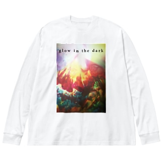 glow in the dark Big silhouette long sleeve T-shirts