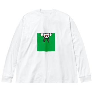PETTYのぞき見 Big silhouette long sleeve T-shirts