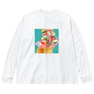 スカート Big silhouette long sleeve T-shirts
