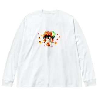 いくらちゃん。 Big silhouette long sleeve T-shirts