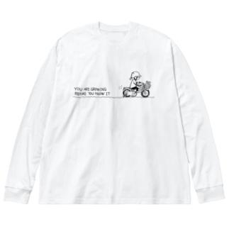 いつの間にか成長してる Big silhouette long sleeve T-shirts