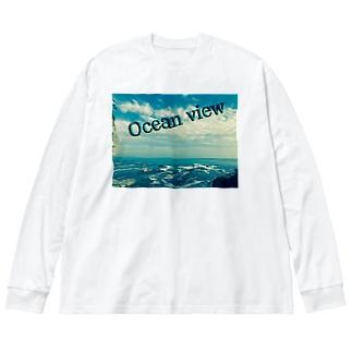 ocean view  オーシャンビュー Big silhouette long sleeve T-shirts