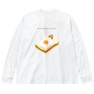 おいしい睡眠 Big silhouette long sleeve T-shirts