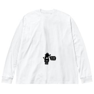 ケットシーのカットソー Big silhouette long sleeve T-shirts