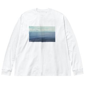 沈んだ羊 Big silhouette long sleeve T-shirts