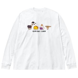 おせちさん Big silhouette long sleeve T-shirts