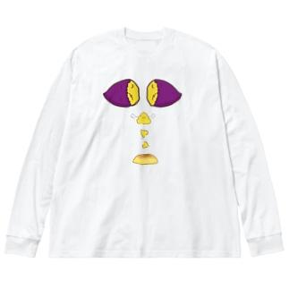 スイートポテトの誕生 Big silhouette long sleeve T-shirts