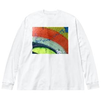 はっぽう Big silhouette long sleeve T-shirts