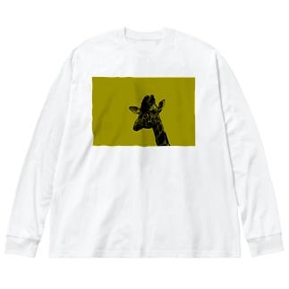 キリン Big silhouette long sleeve T-shirts