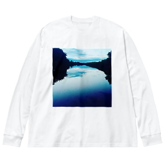 鏡面反射 Big silhouette long sleeve T-shirts
