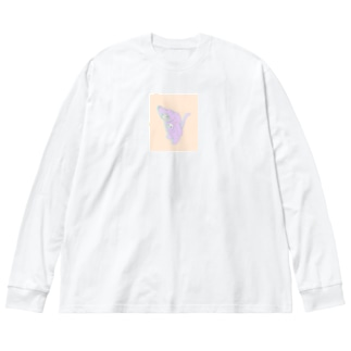 あすとろにゃーと Big silhouette long sleeve T-shirts