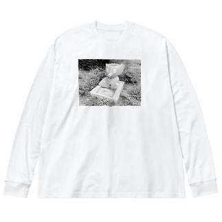 ぞうのおみず Big silhouette long sleeve T-shirts