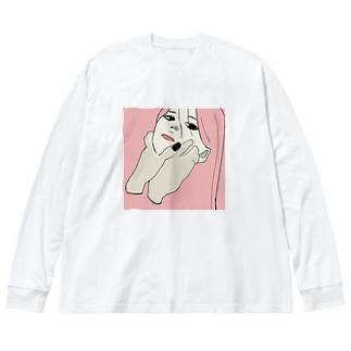 君死に給う事勿れ Big silhouette long sleeve T-shirts