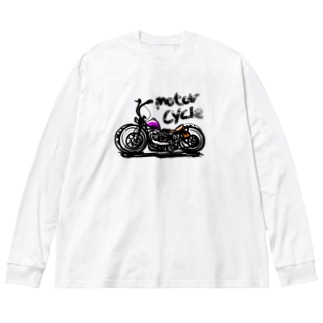 Motorcycle  Big silhouette long sleeve T-shirts