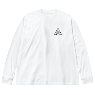 ひな恋 Big silhouette long sleeve T-shirts