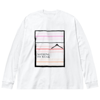 着ていく服が無い Big silhouette long sleeve T-shirts