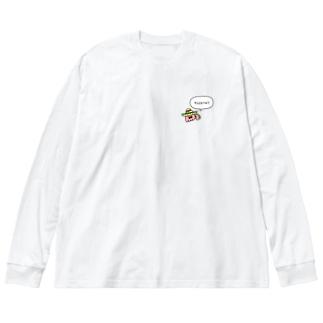 タコタコのメキシカンタコさん Big Silhouette Long Sleeve T-Shirt
