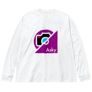 パ紋No.3397 Asky Big silhouette long sleeve T-shirts
