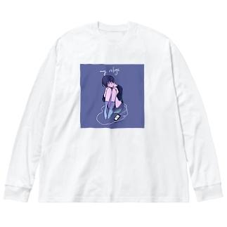 わたしのとりで Big Silhouette Long Sleeve T-Shirt