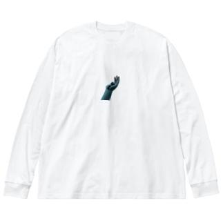 あの娘の手のひら Big silhouette long sleeve T-shirts