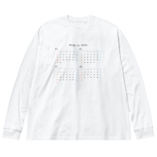 2020 to 2021 年末年始 Big silhouette long sleeve T-shirts